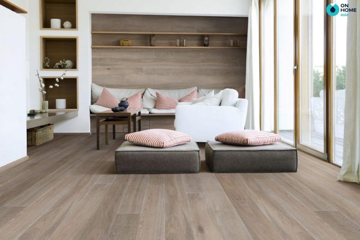 gỗ lát sàn ấm cúng vào mùa đông
