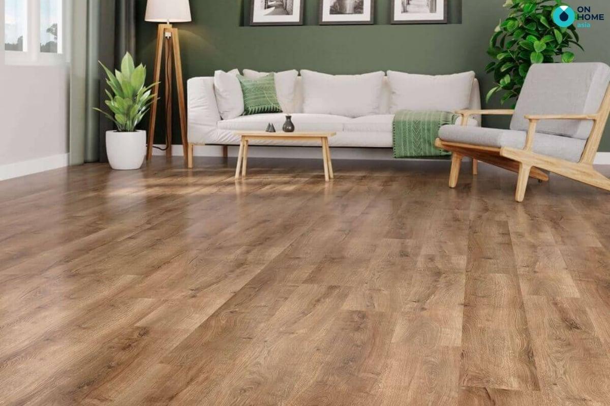 Sàn gỗ công nghiệp có màu sắc và vân gỗ đa dạng