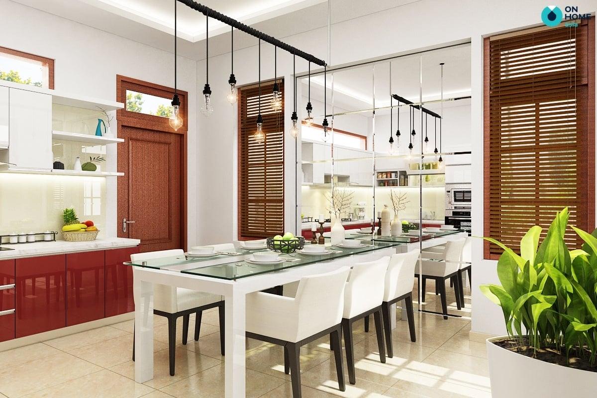 Gương trang trí nhà bếp