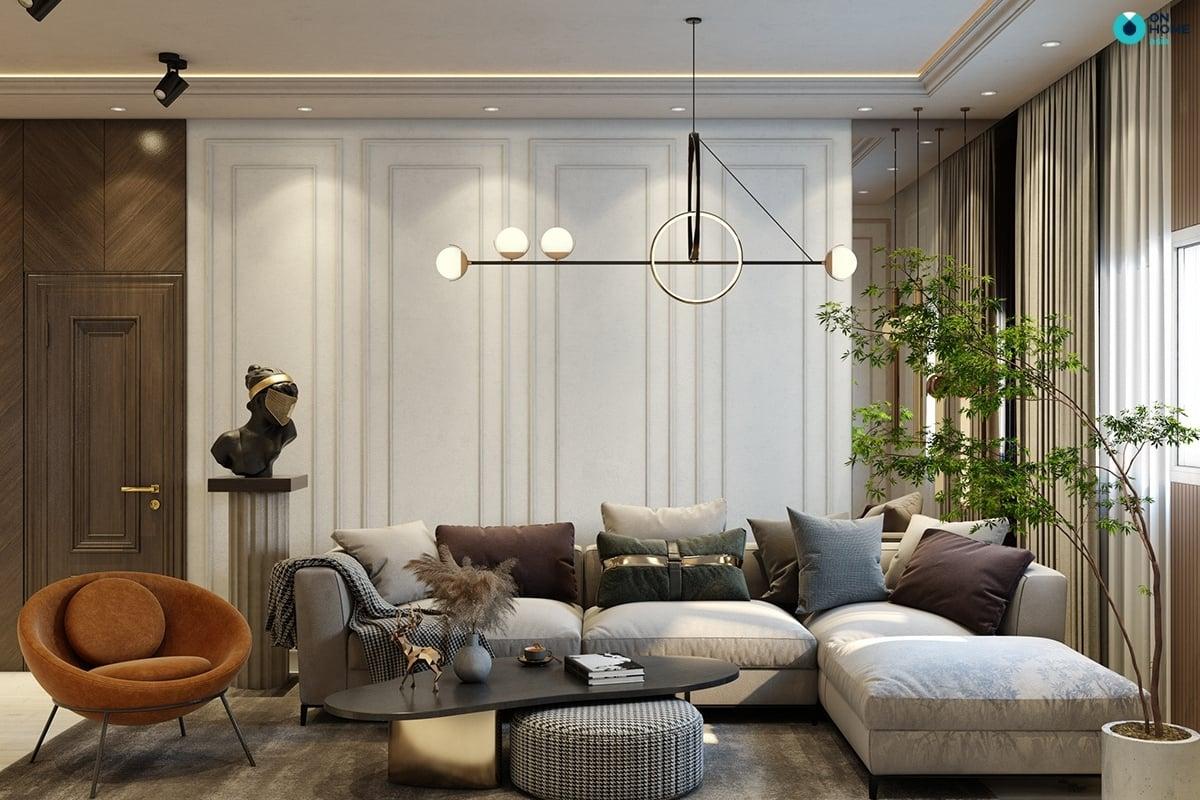 Hình học trong thiết kế nội thất phòng khách