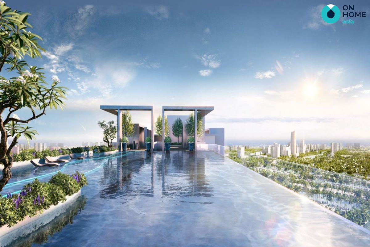 hồ bơi săn mây của dự án astral city