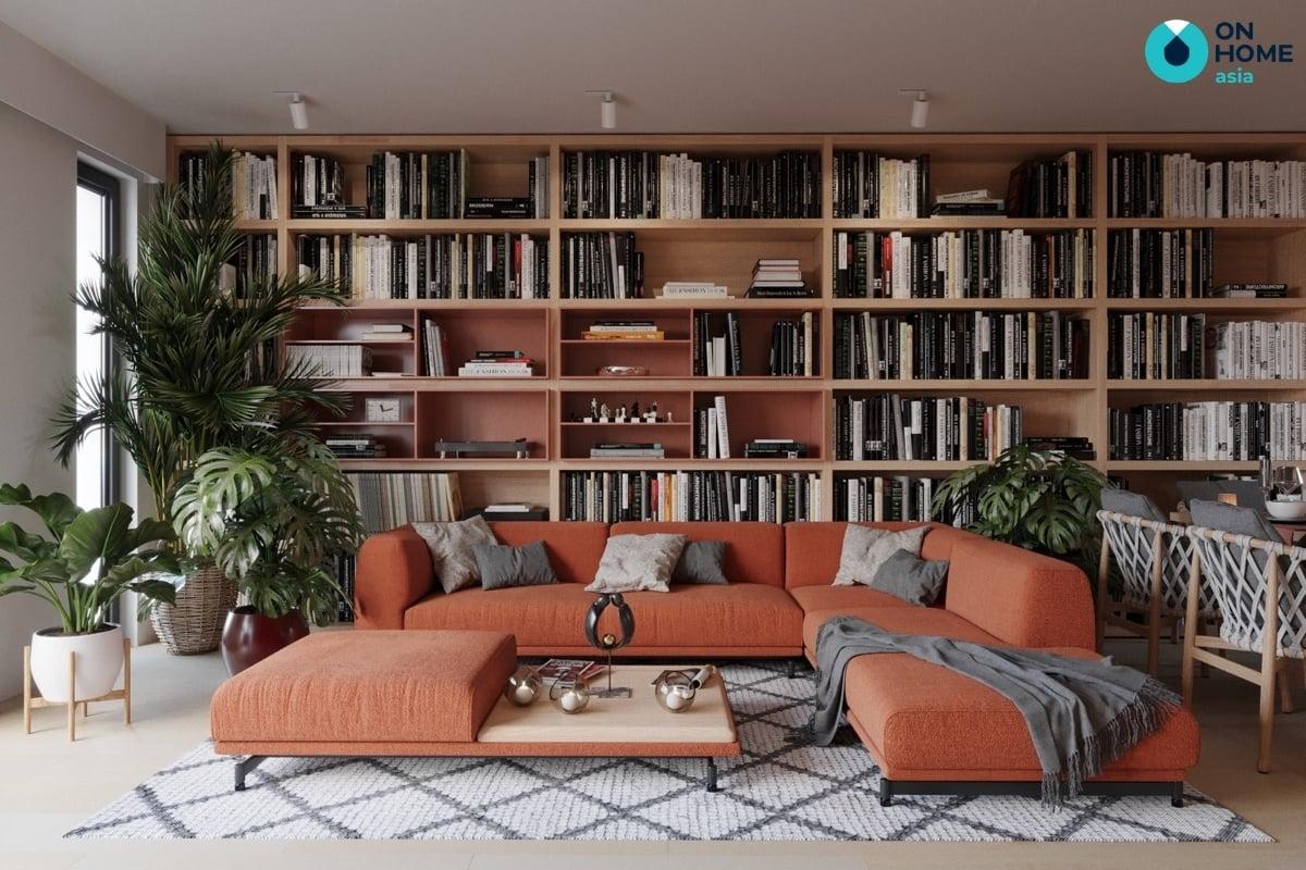 kệ trang trí phòng khách