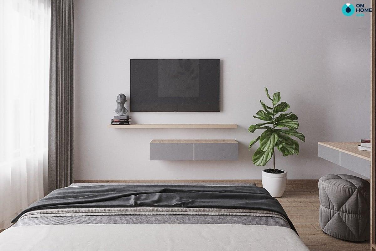 Nội thất phòng ngủ căn hộ Compass One 2BRC - Mẫu 4