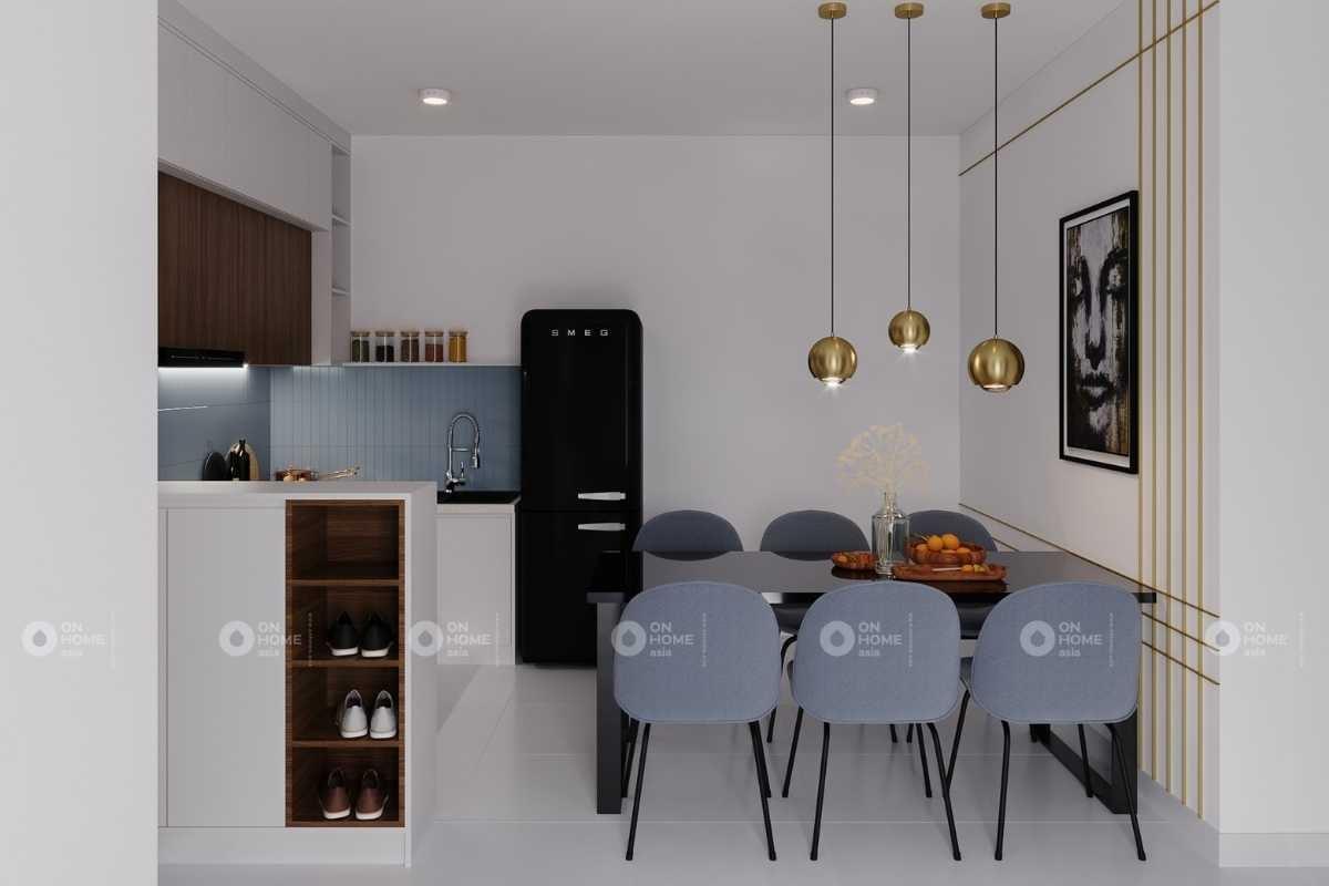 Nội thất phòng bếp căn hộ chung cư Eco Xuân 3 phòng ngủ