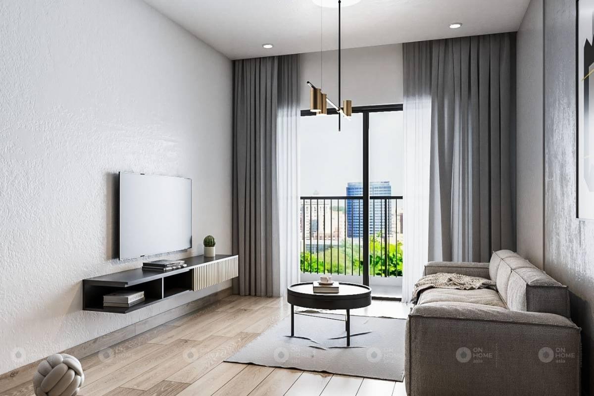 Nội thất phòng khách chung cư Sora Gardens II căn hộ 3 phòng ngủ