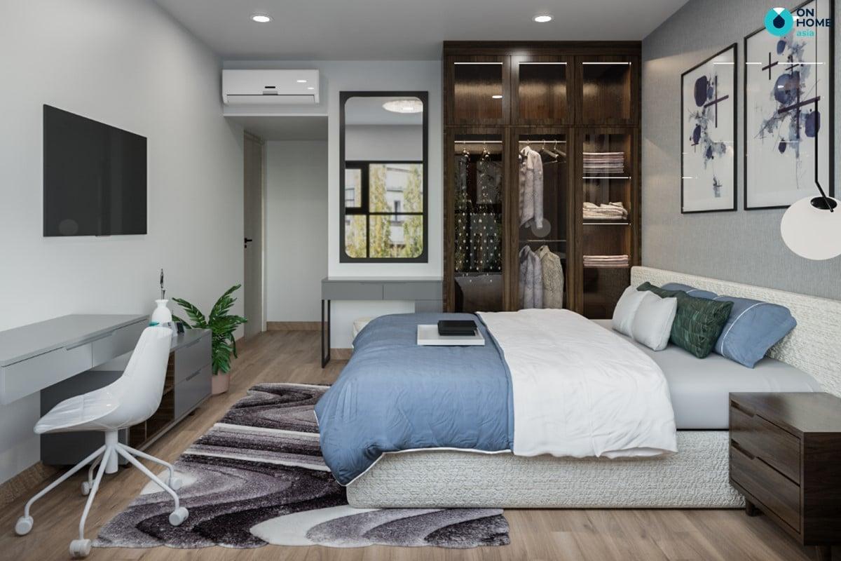 Nội thất phòng ngủ master căn 2BRC - Mẫu 3