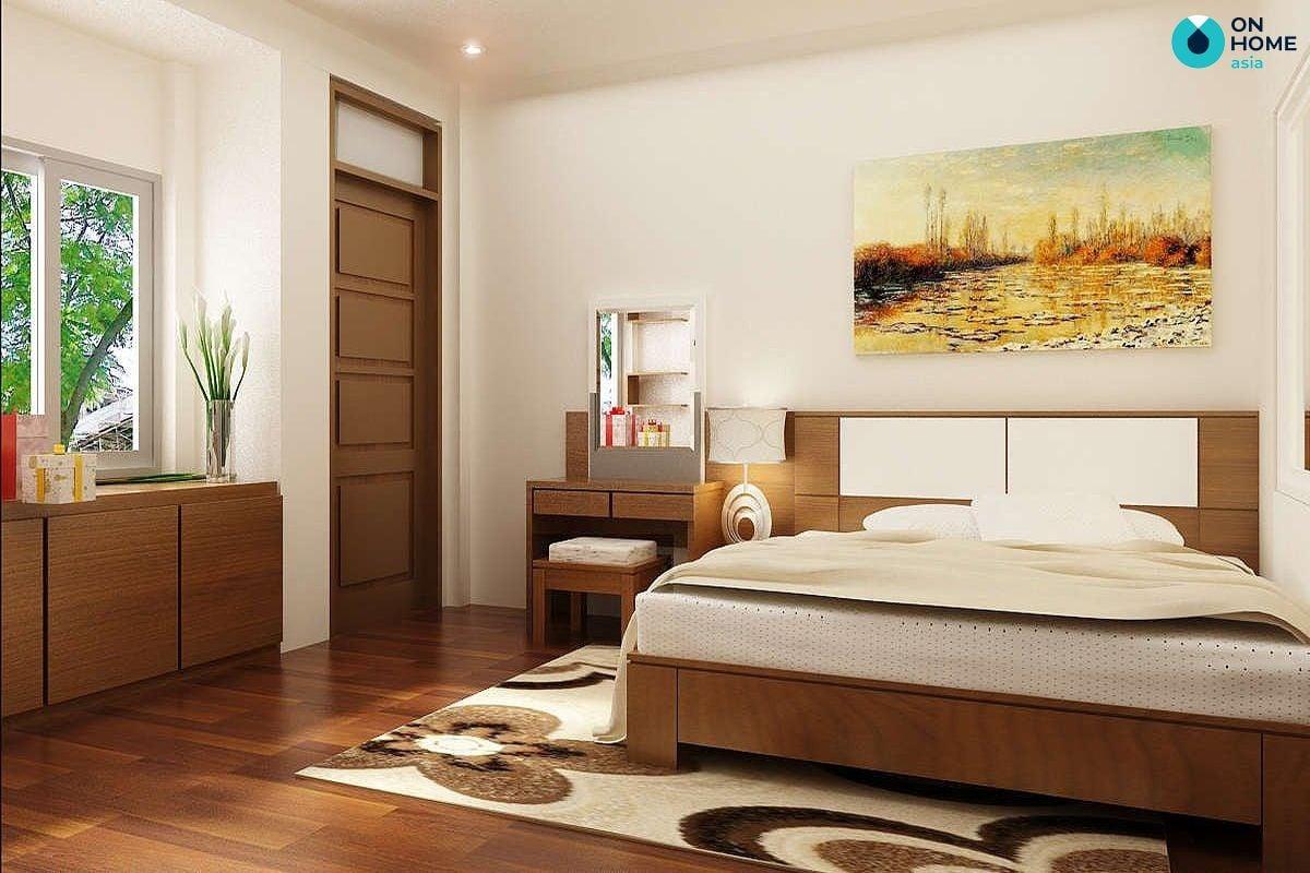 Tránh đặt giường ngủ ở hướng đối diện hoặc nằm sát cửa ra vào