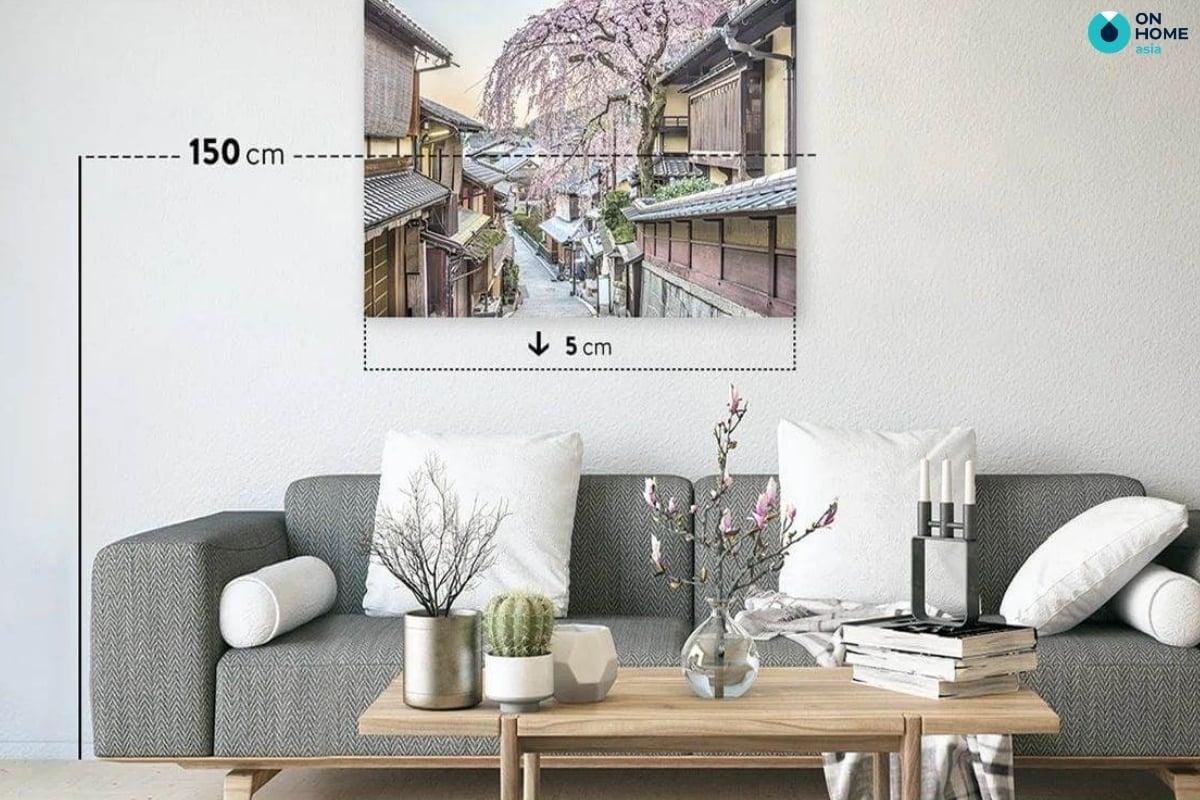 Kích thước tranh treo tường phòng khách