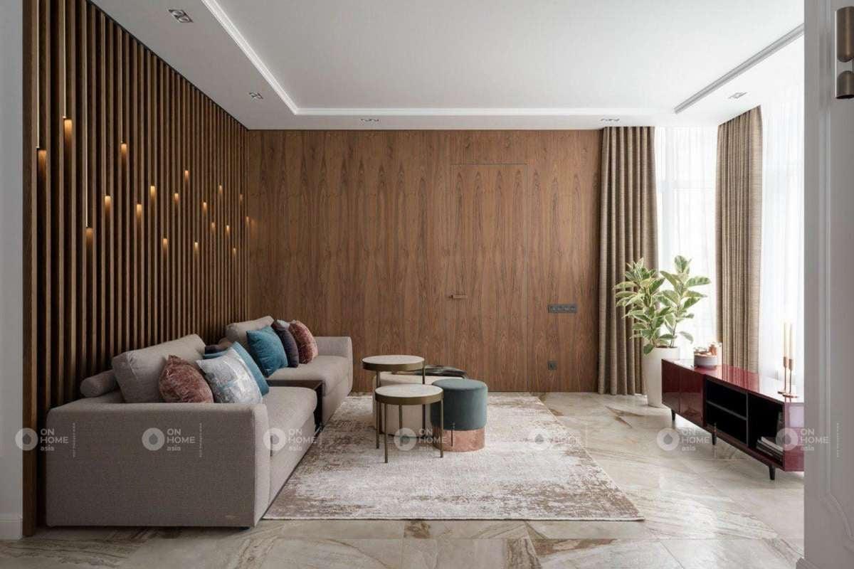 Lam gỗ trang trí phòng khách đẹp