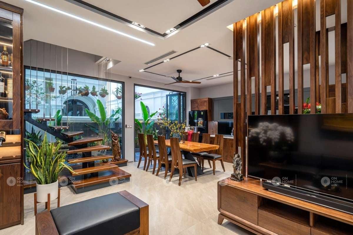 Lam gỗ trang trí phòng khách đẹp và sang trọng