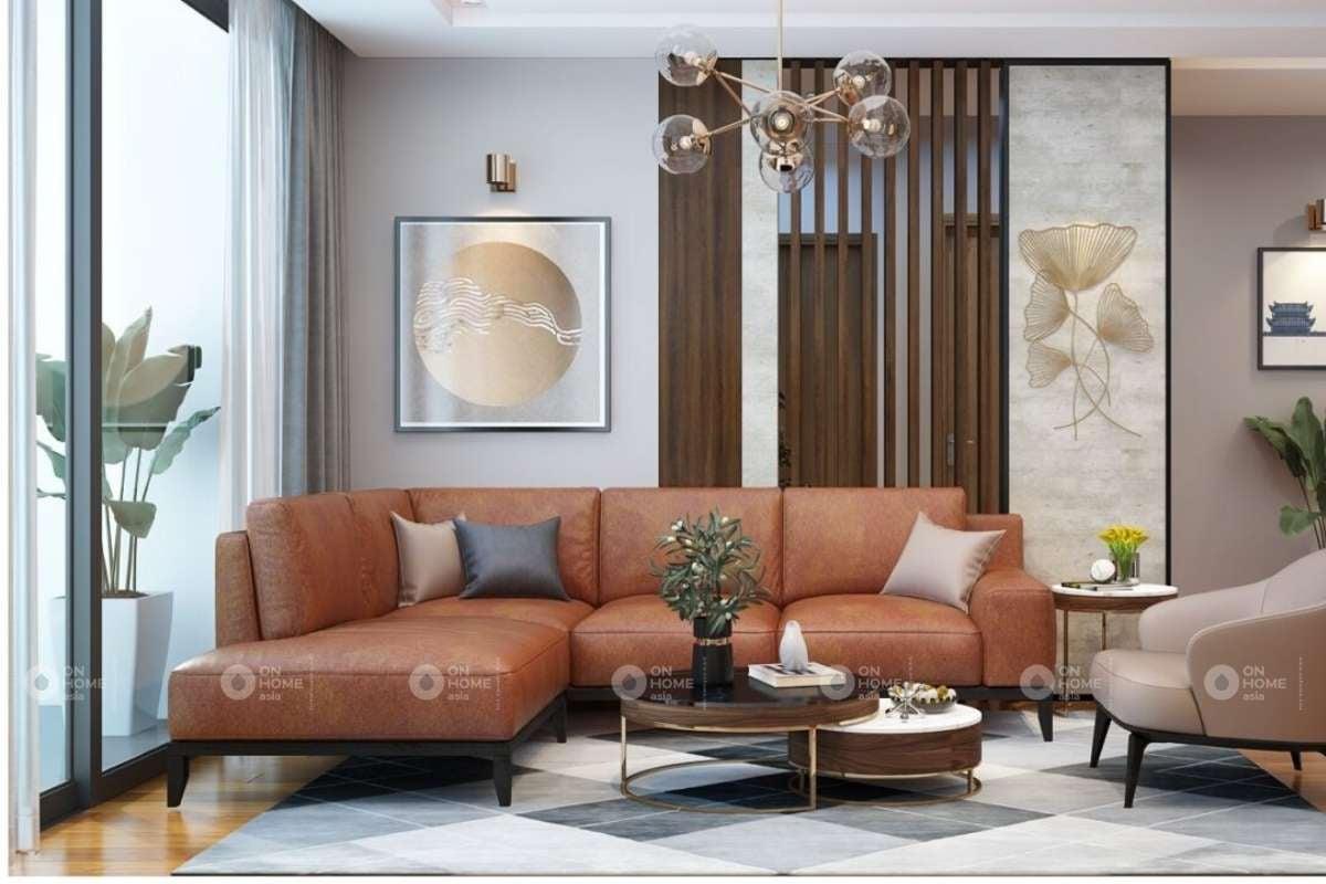 Thanh lam gỗ trang trí phòng khách đẹp