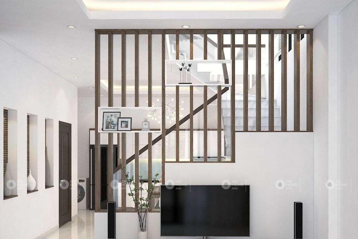 Mẫu lam gỗ trang trí phòng khách đẹp