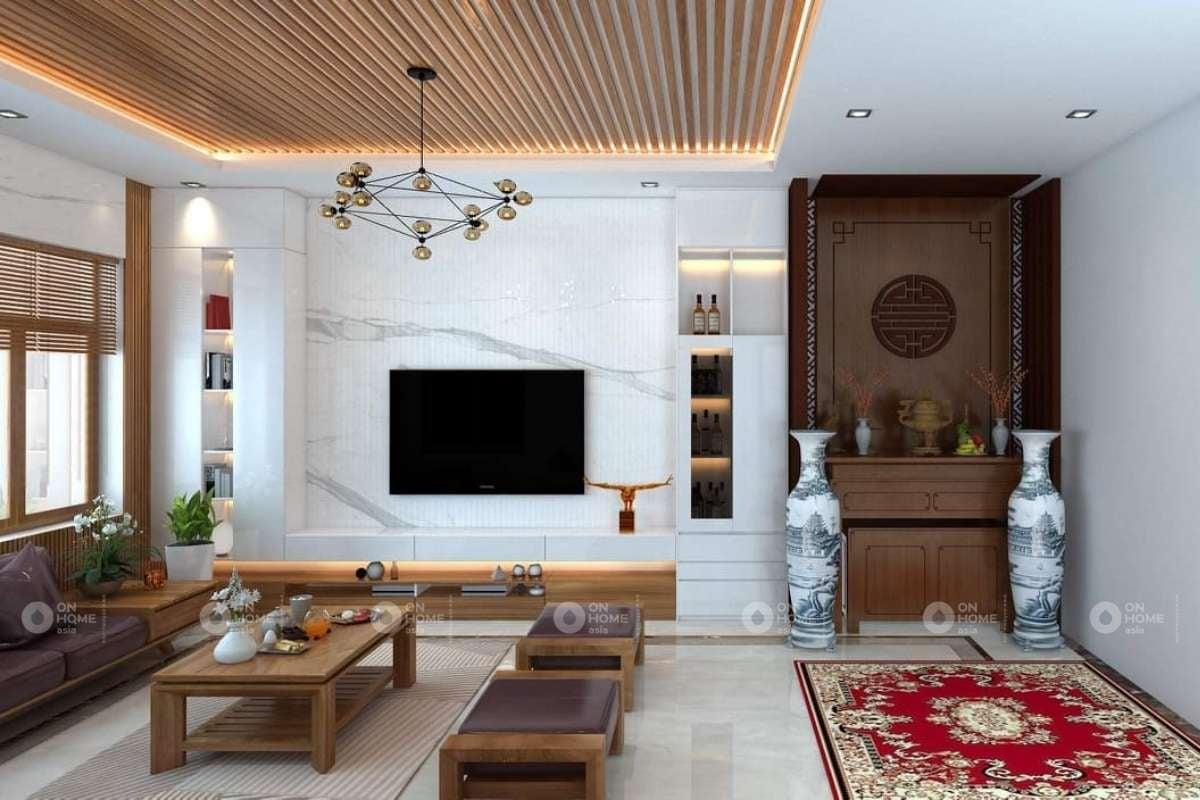 Lam gỗ trang trí trần nhà