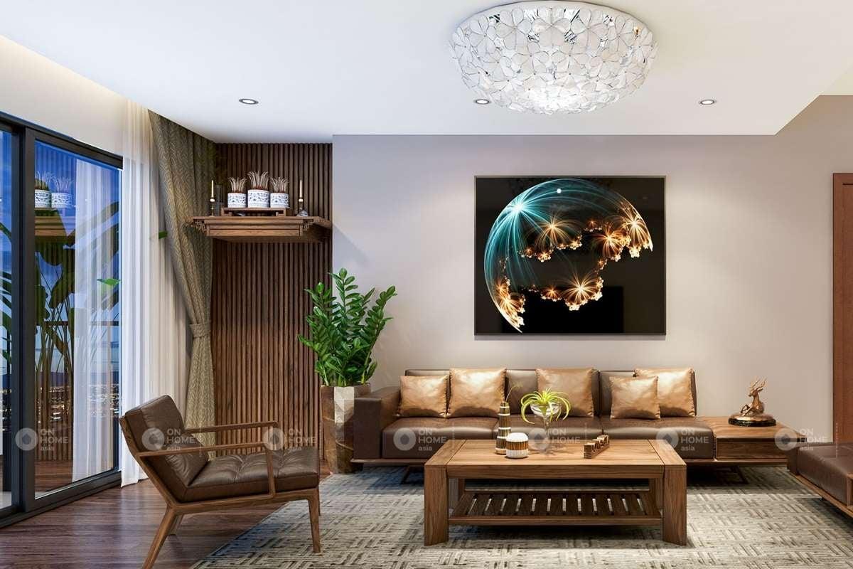 Thanh lam gỗ trang trí phòng khách sang trọng