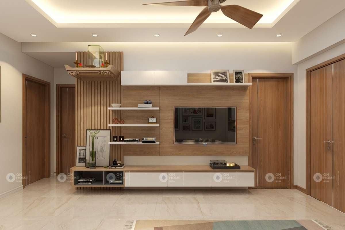 Mẫu lam gỗ phòng khách đẹp và hiện đại