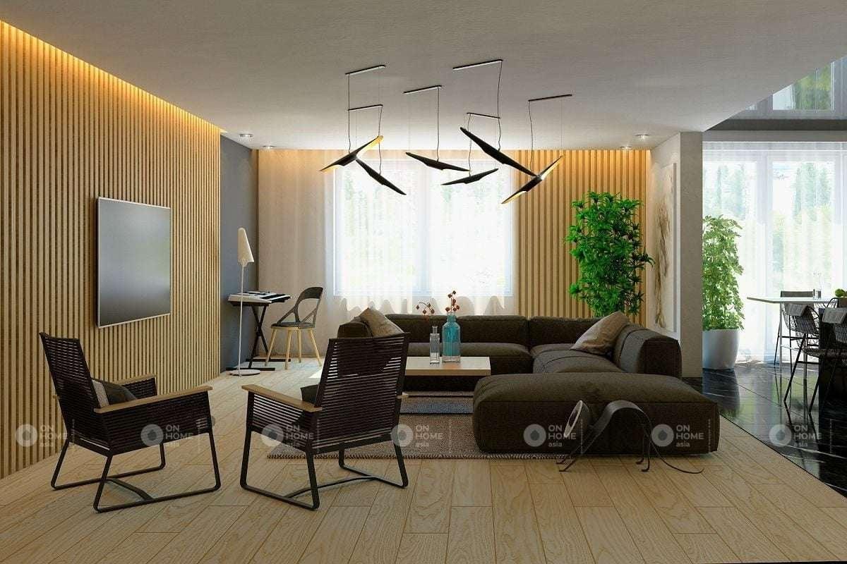Lam gỗ phòng khách đẹp