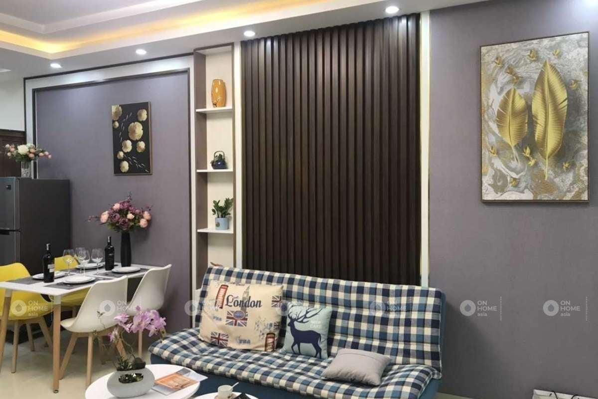 Lam gỗ nhựa trang trí phòng khách