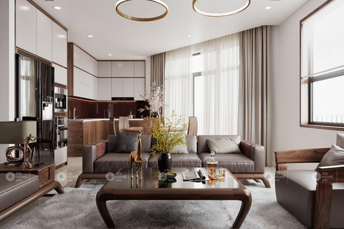 Lắp đặt hệ thống cửa sổ cho phòng khách để đón ánh sáng tự nhiên