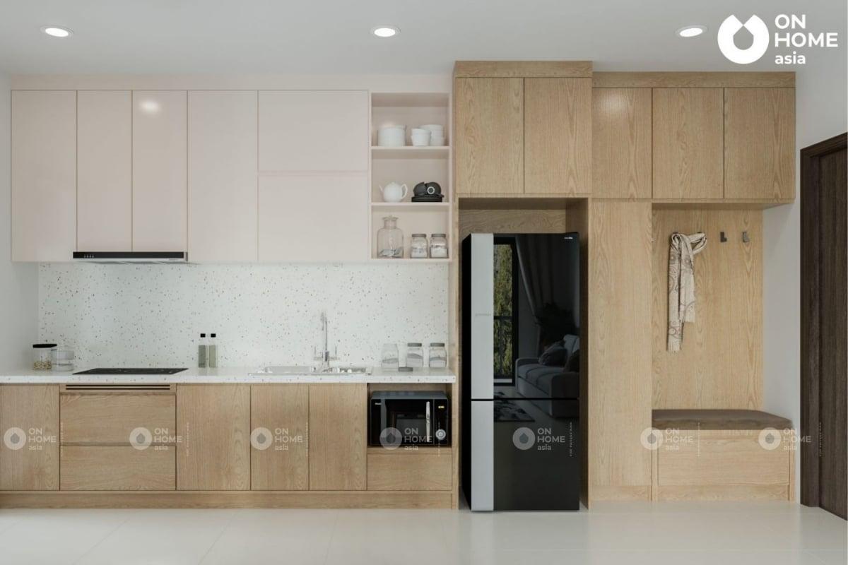 Tủ bếp căn hộ chung cư Compass One