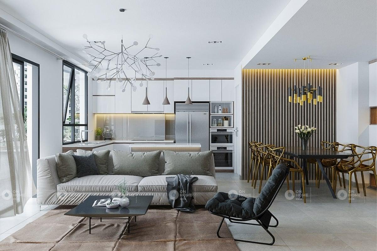 Thiết kế nội thất căn hộ Eco xuân 3 phòng ngủ