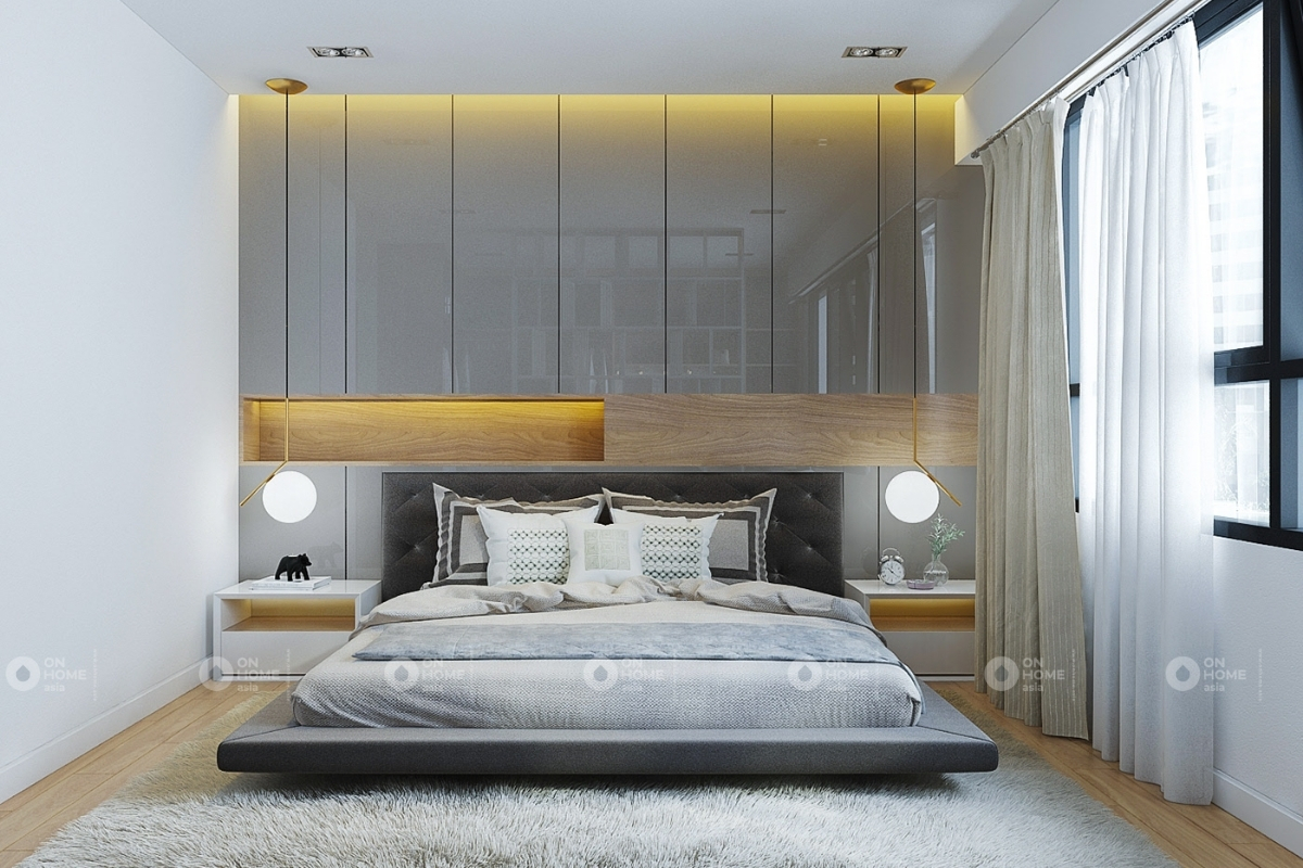 Nội thất phòng ngủ căn hộ chung cư Eco Xuân 3 phòng ngủ