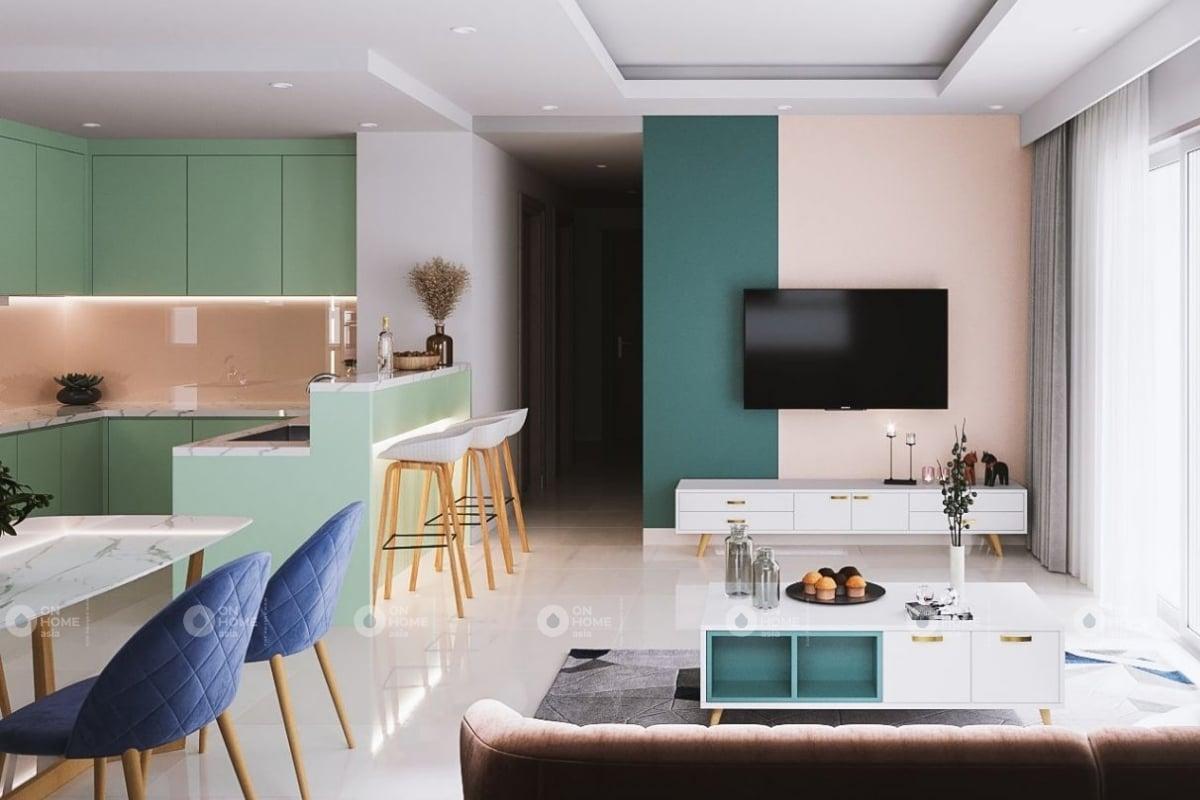 Thiết kế phòng khách căn hộ The View 3 phòng ngủ