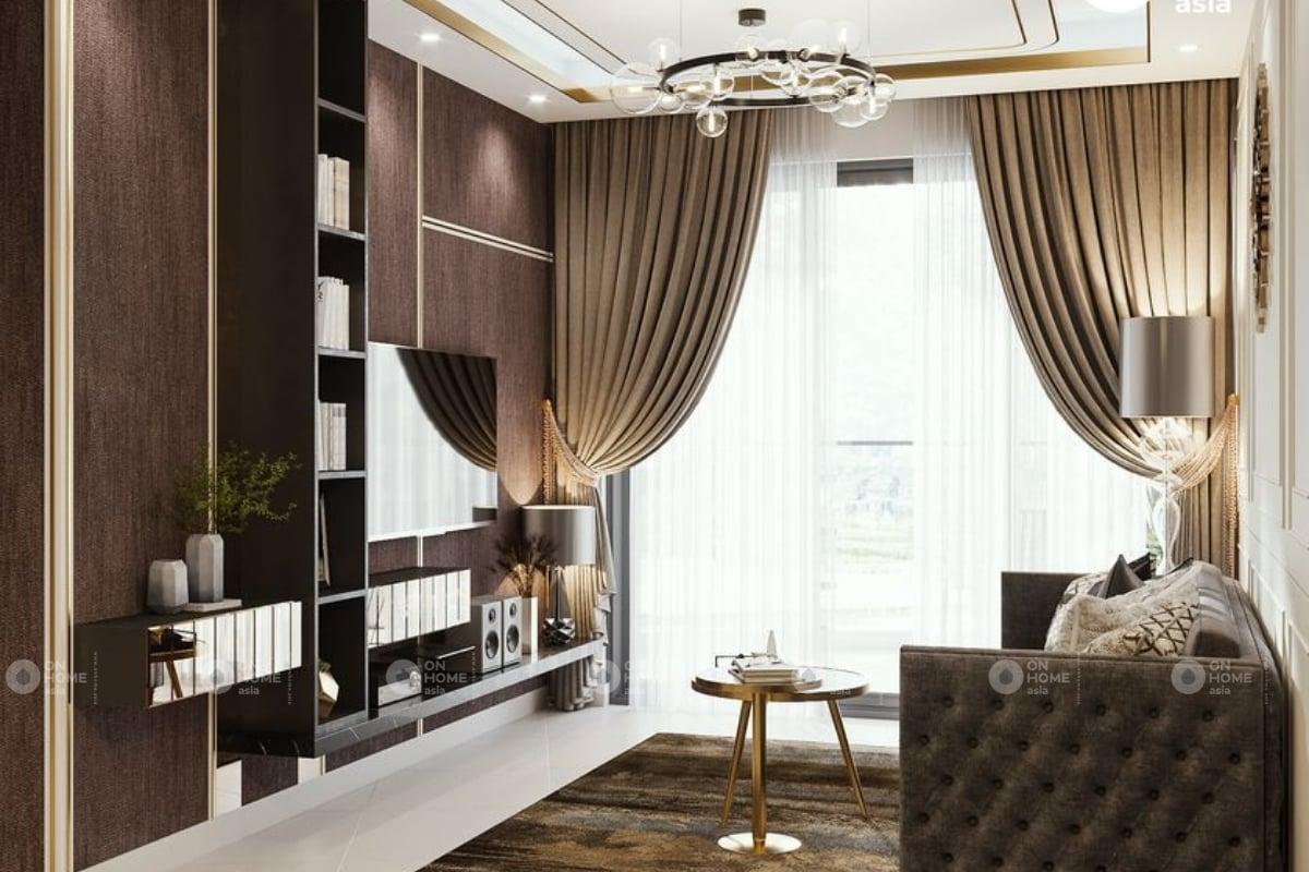 Thiết kế phòng khách căn hộ chung cư sang trọng