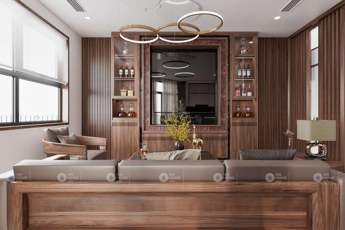 Thiết kế nội thất phòng khách biệt thự hiện đại