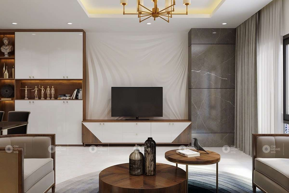 Một góc phòng khách biệt thự