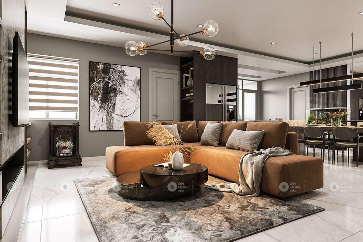 Bộ sofa với bàn trà là sự kết hợp đầy ăn ý