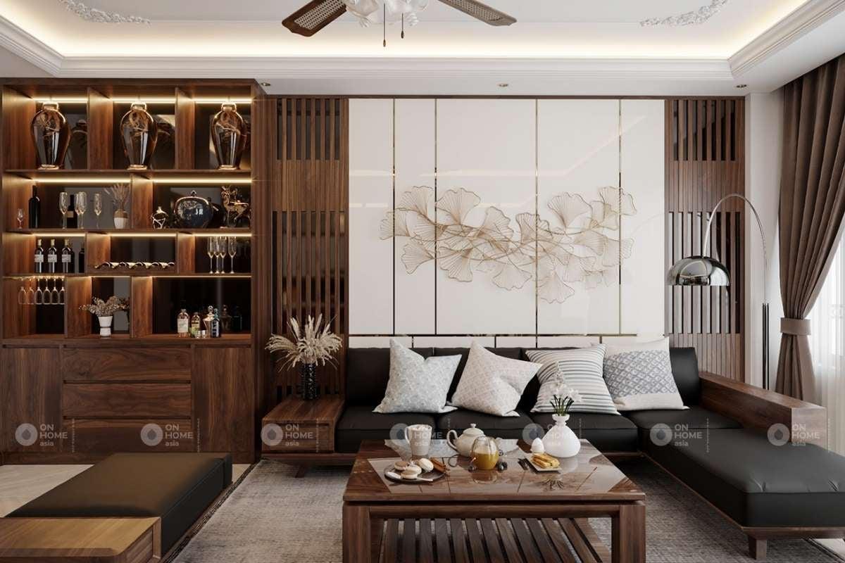 Thiết kế phòng khách biệt thự hiện đại và sang trọng