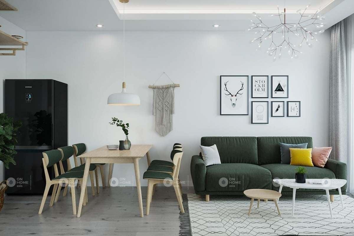 Thiết kế nội thất căn hộ chung cư 90m2 theo phong cách Bắc Âu