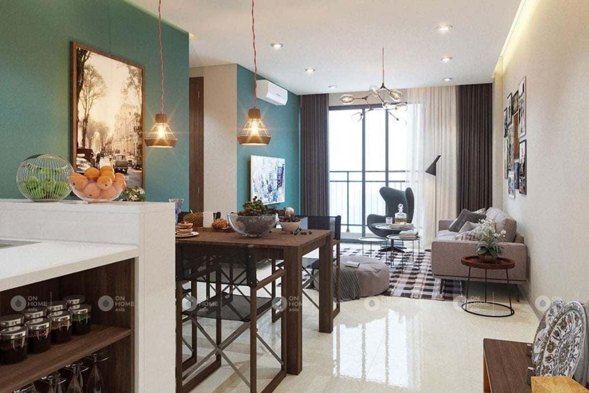 Thiết kế nội thất căn hộ chung cư 90m2 theo phong cách Retro