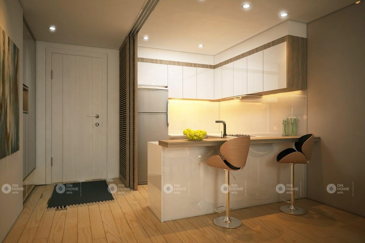 Thiết kế tủ bếp acrylic sáng bóng và sang trọng