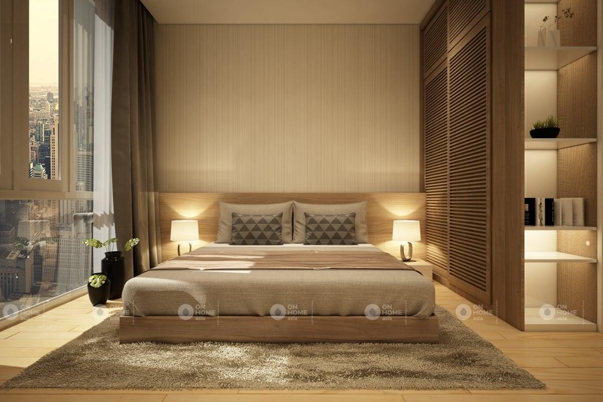 Nội thất phòng ngủ master ấm cúng