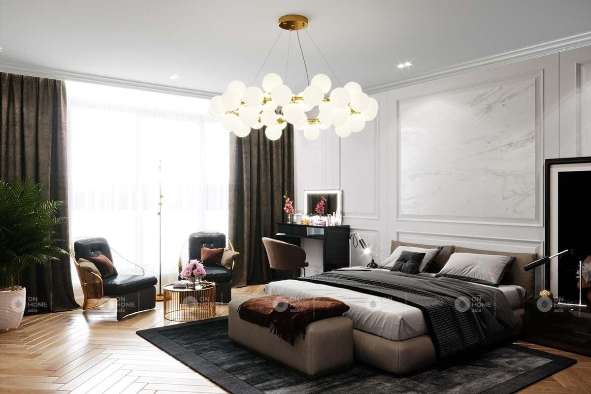 thiết kế phòng ngủ chung cư 90m2