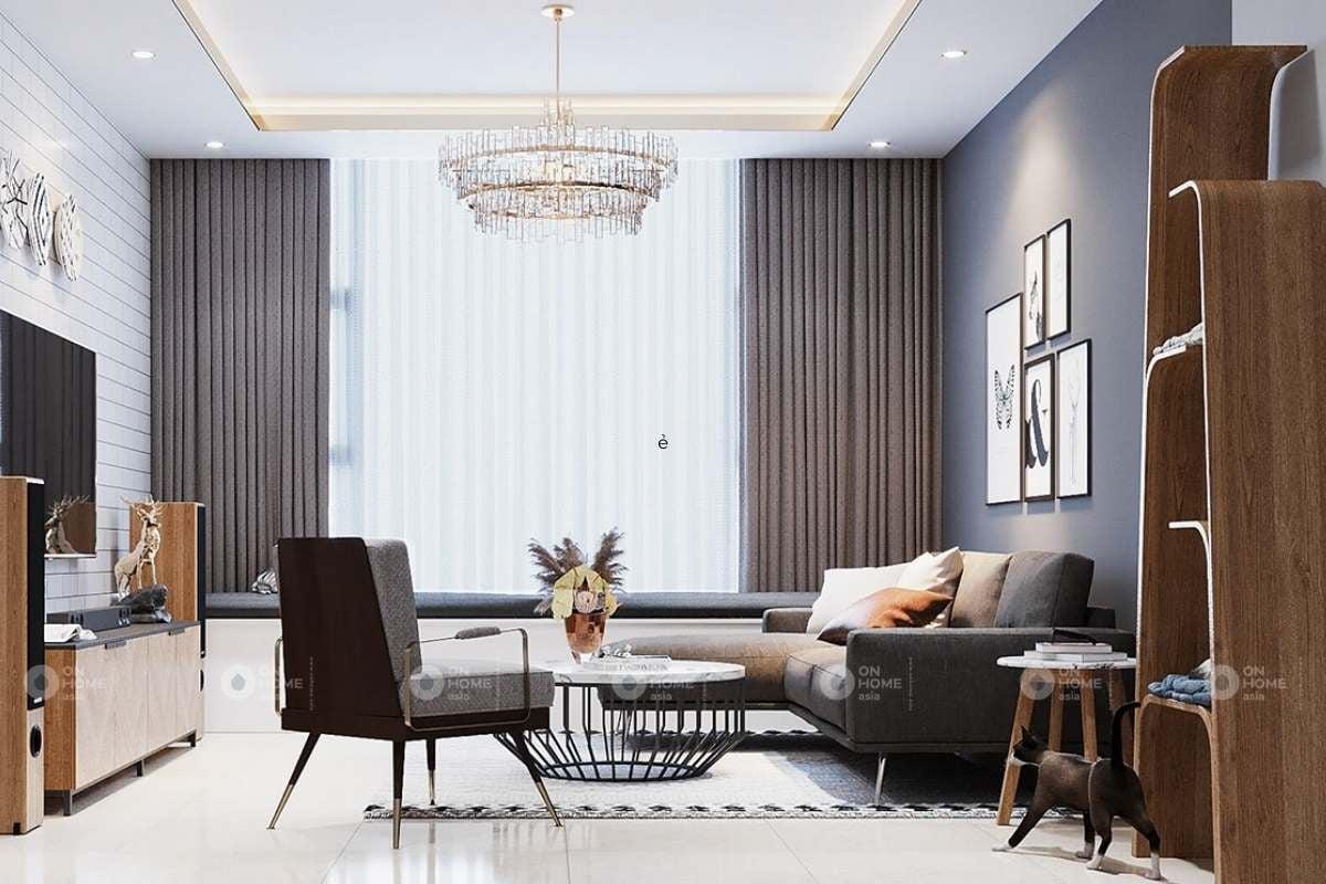 Thiết kế nội thất phòng khách đơn giản và thanh lịch