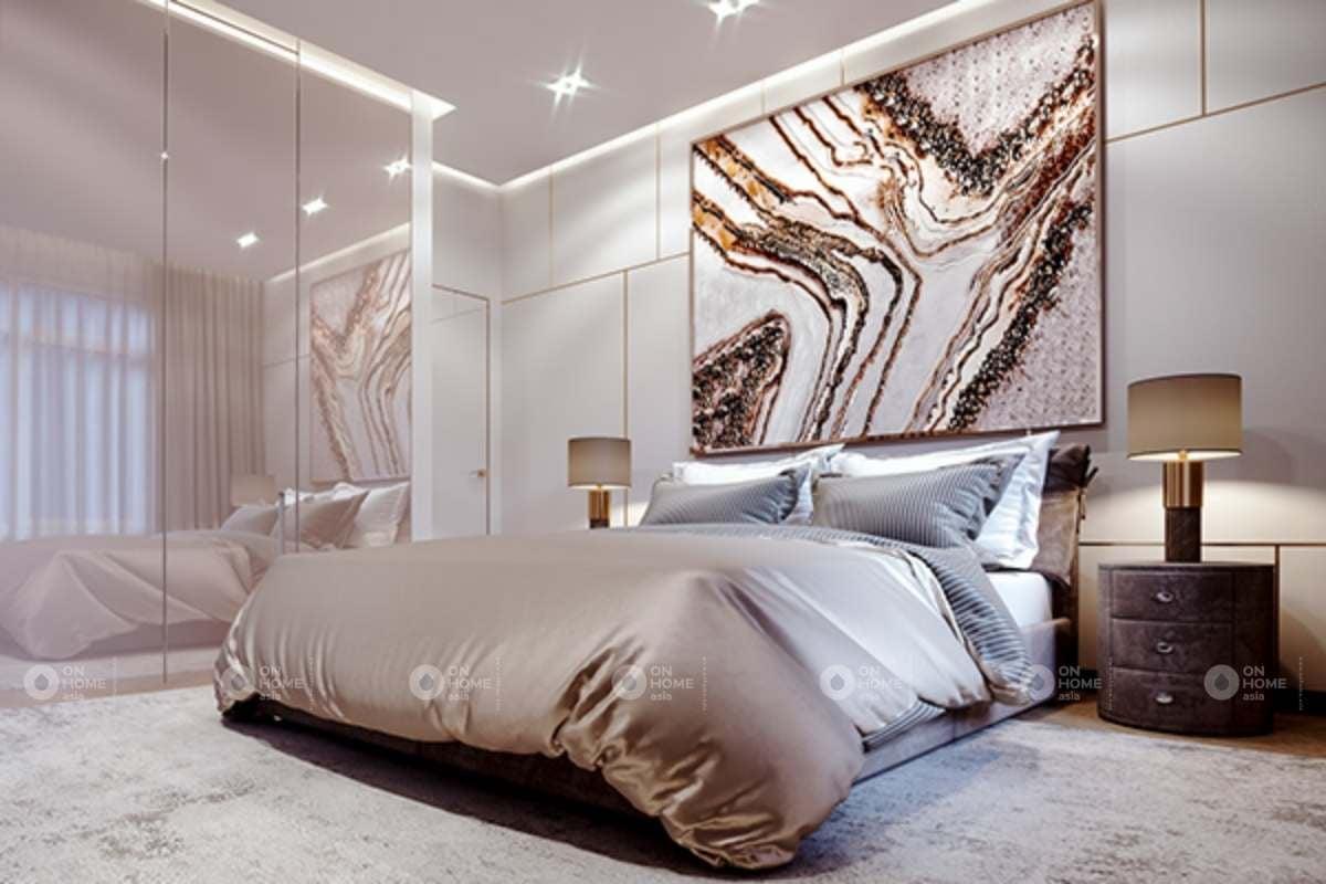 Không gian phòng ngủ được thiết kế rộng rãi