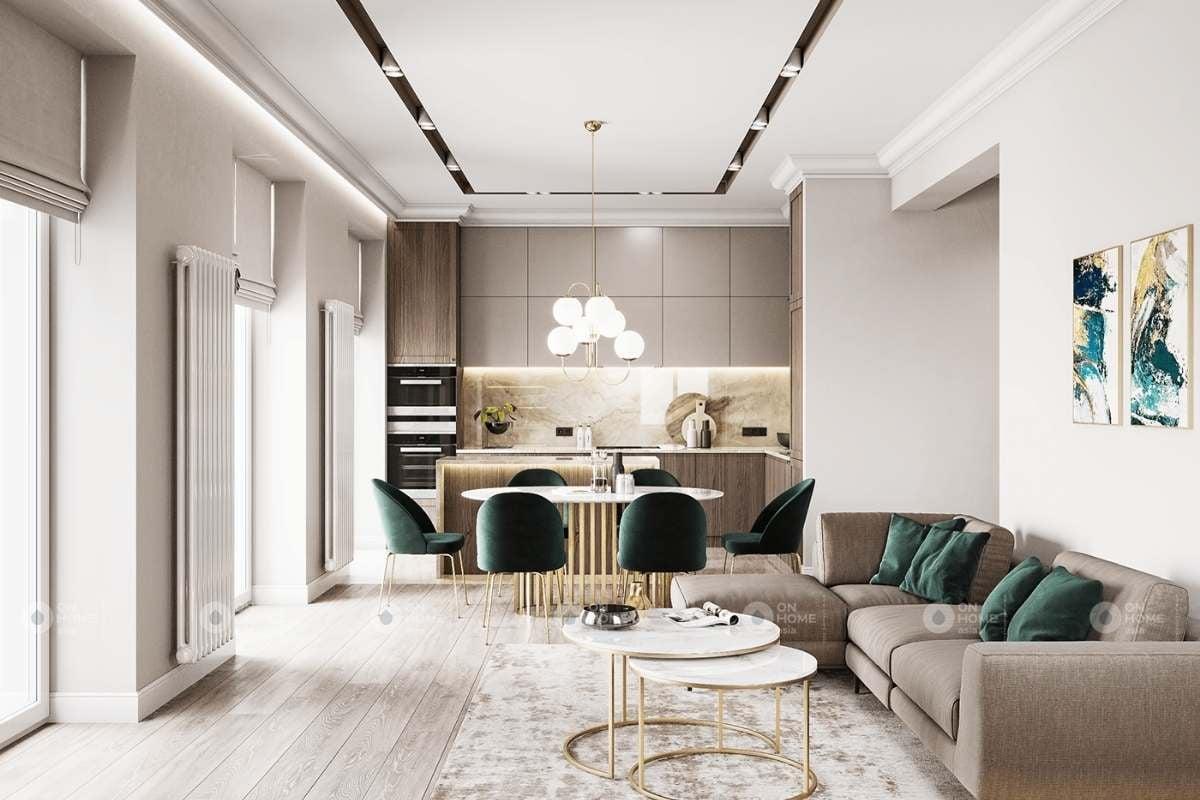 Thiết kế phòng khách chung cư sang trọng