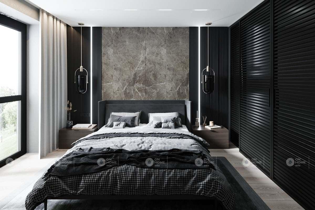 Nội thất phòng ngủ master màu đen