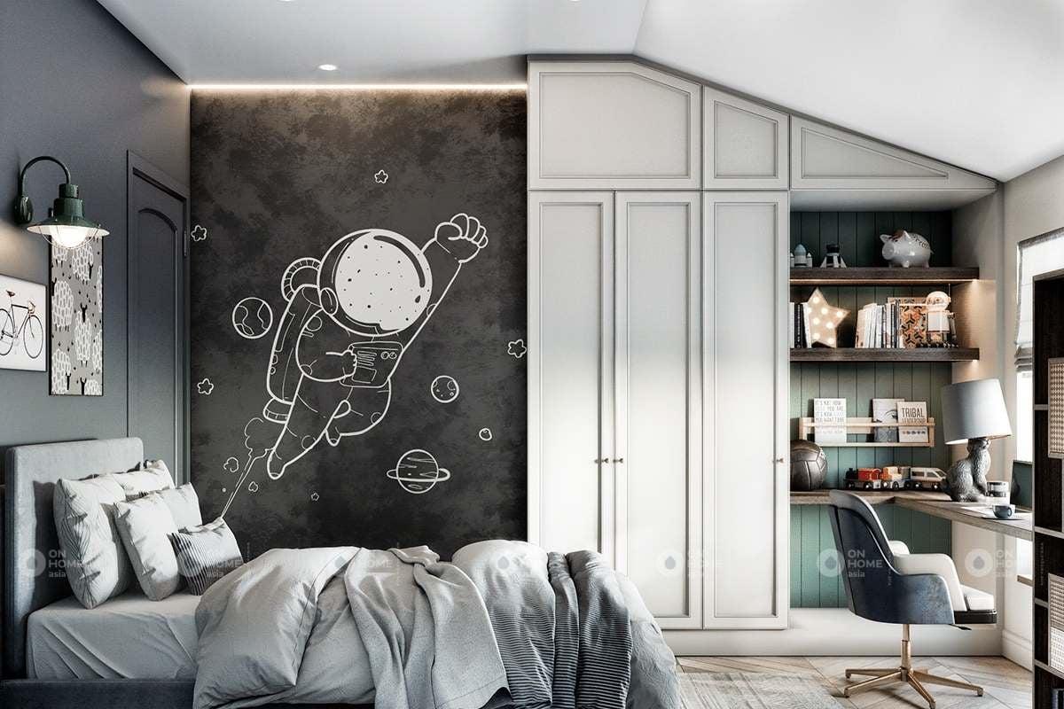 Thiết kế phòng ngủ trẻ em đơn giản
