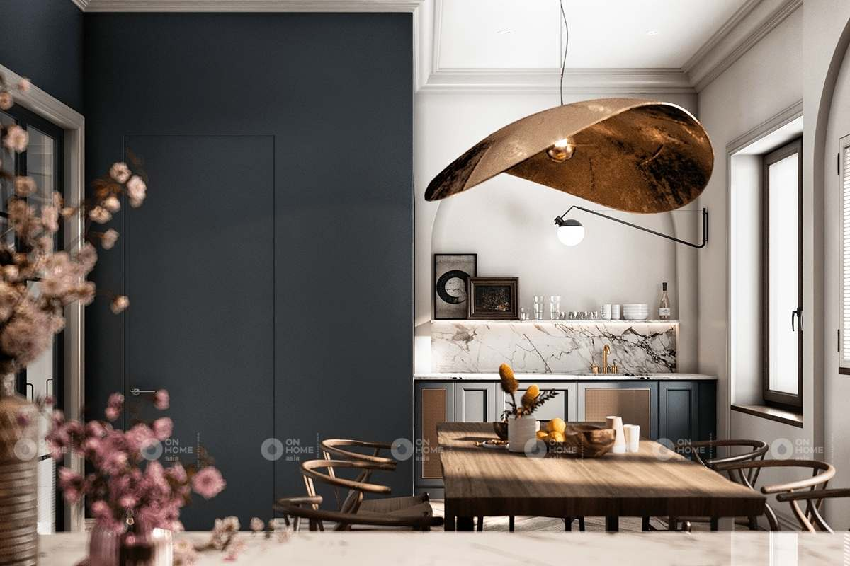 Thiết kế nội thất phòng bếp Bắc Âu