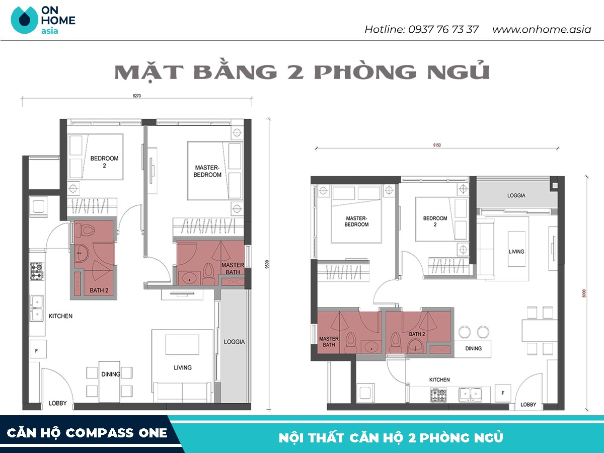 mat-bang-compass-one-2-phong-ngu-lon
