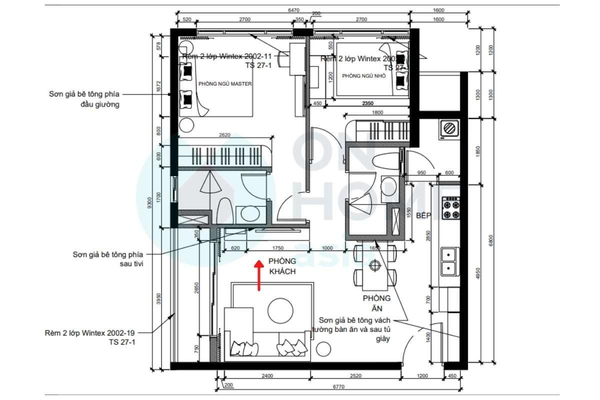 Hướng phòng khách và thiết kế phòng khách khi phối cảnh
