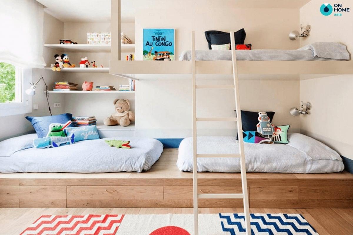 Thiết kế phòng ngủ bé trai tinh tế