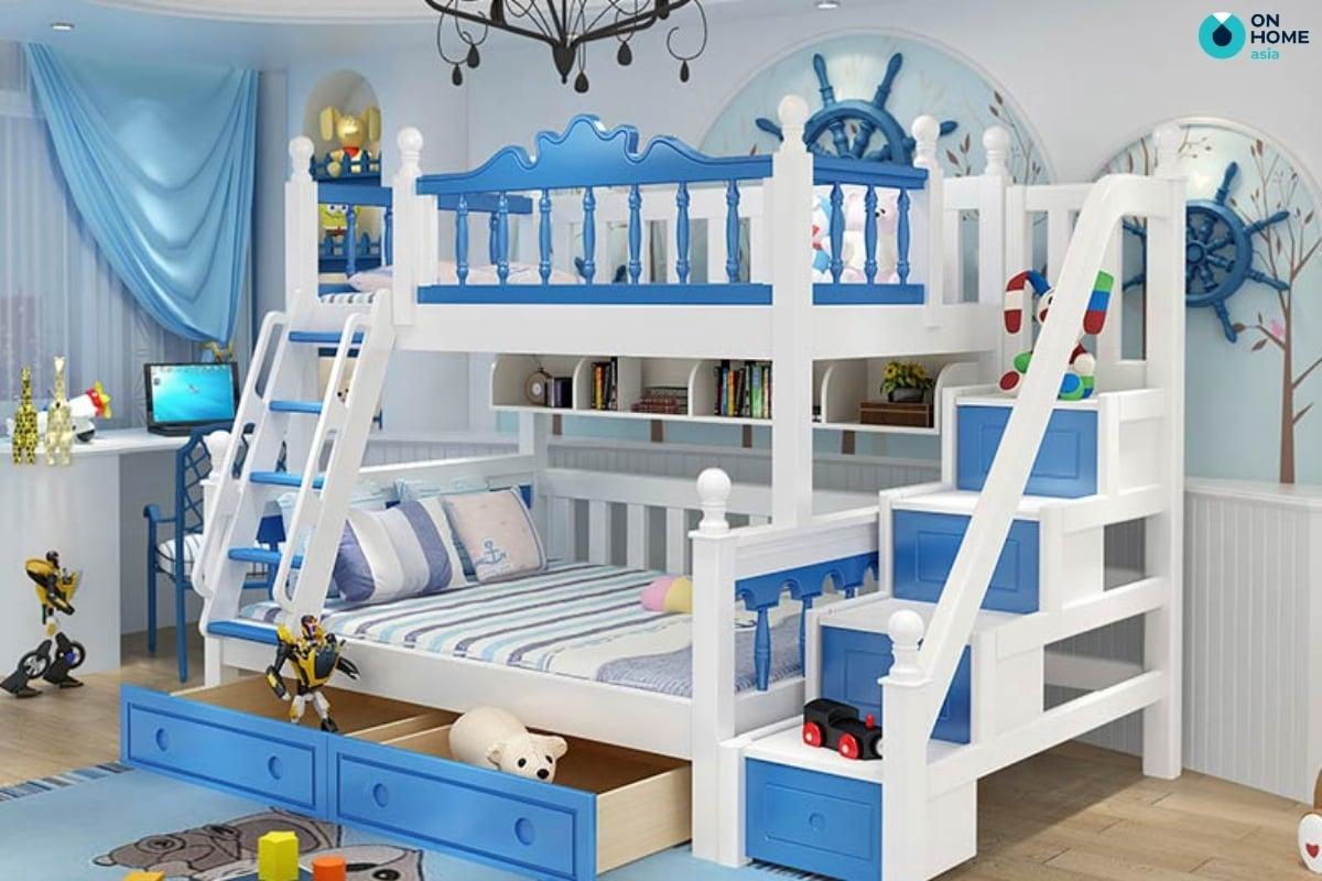 Giường tầng phòng ngủ cho bé trai
