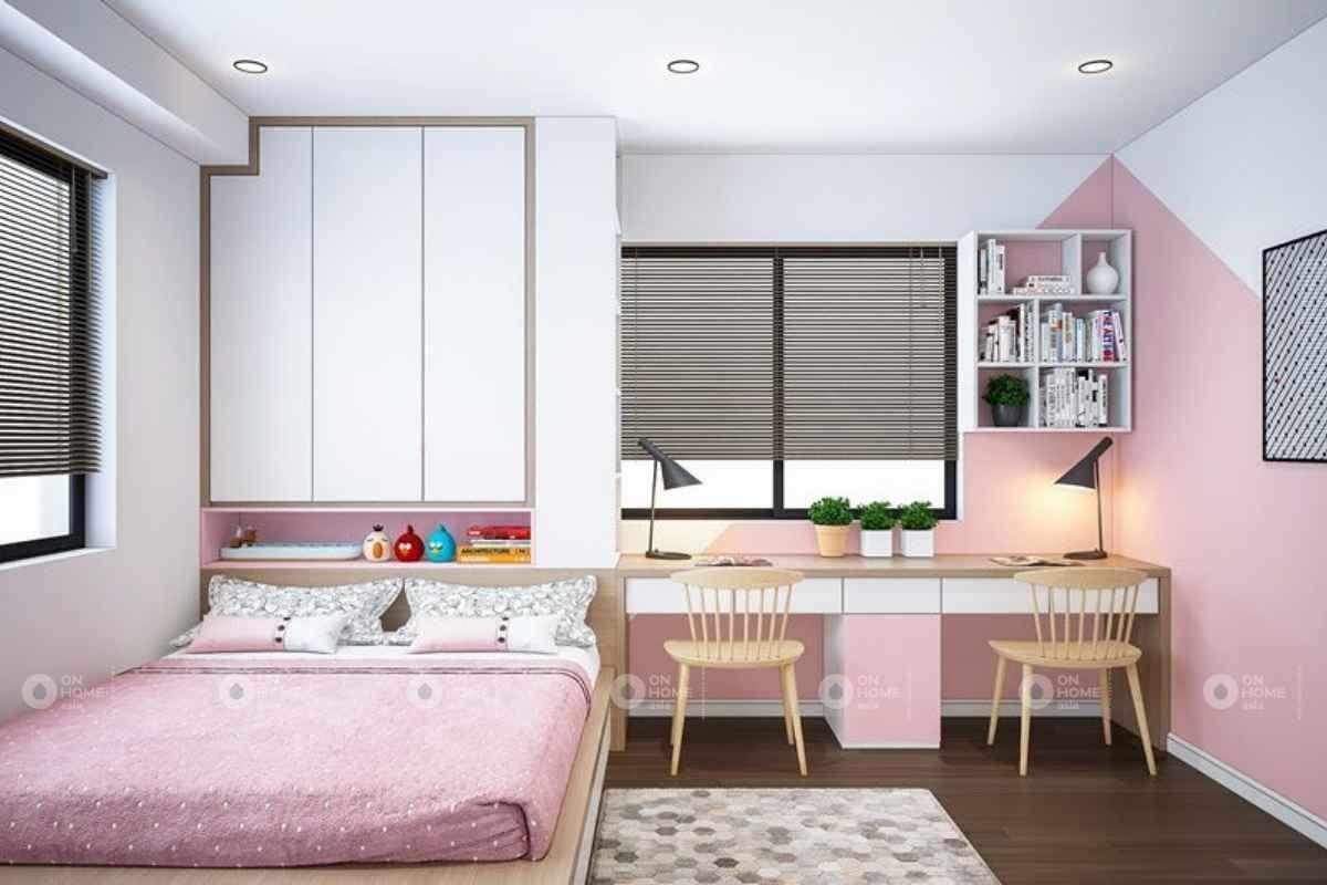 Màu hồng với màu trắng kết hợp với nhau
