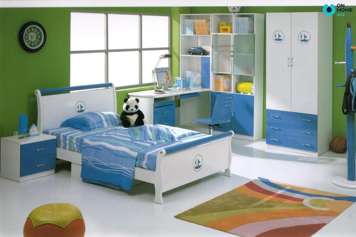 Thiết kế phòng ngủ bé trai đơn giản