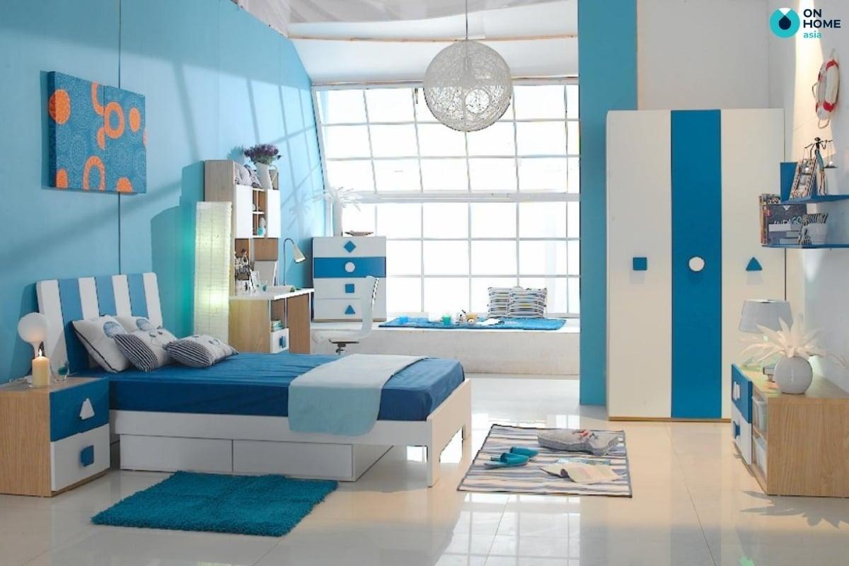 Gam màu ấn tượng trong thiết kế phòng ngủ bé trai
