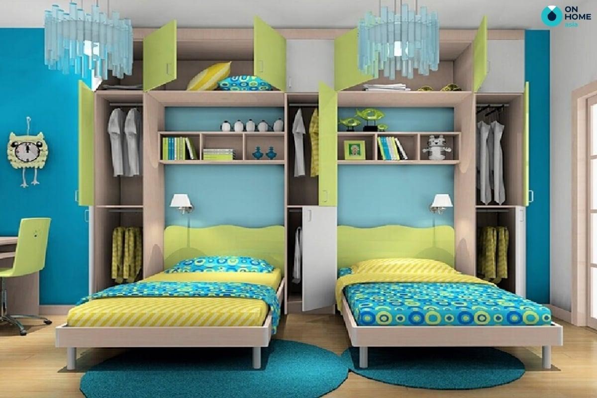 Phòng ngủ dành cho 2 bé trai